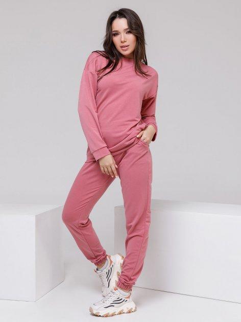 Спортивный костюм ISSA PLUS 12497 M Розовый (2001163828140) - изображение 1