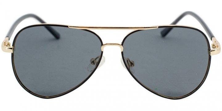 Солнцезащитные очки для подростков поляризационные SumWin BA9930-01 Черный/Золото - изображение 1