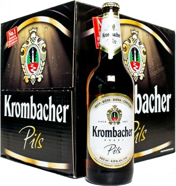 Упаковка пива Krombacher Pils світле фільтрування 4.8% 0.66 л х 12 шт (4008287058642) - зображення 1