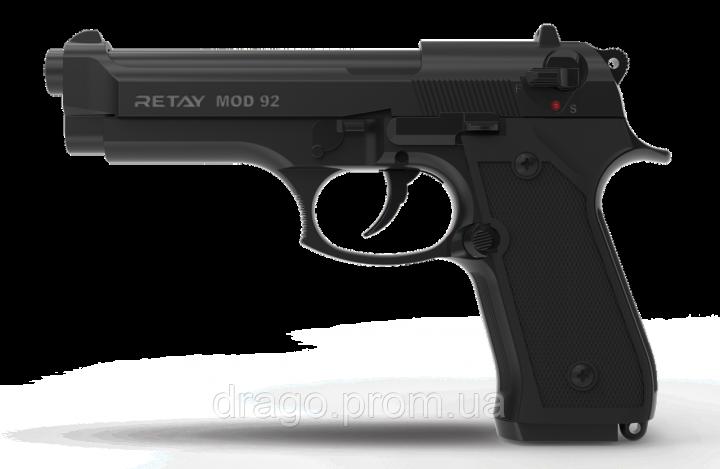 Пистолет стартовый Retay Mod.92, 9мм. black - изображение 1