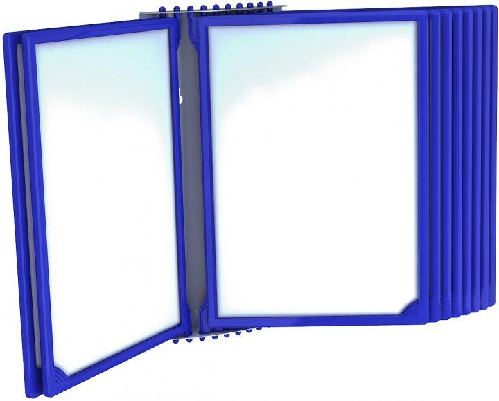 Настенная перекидная система Европос Infoframe A4 на 10 рамок Синяя (Р1018/28)