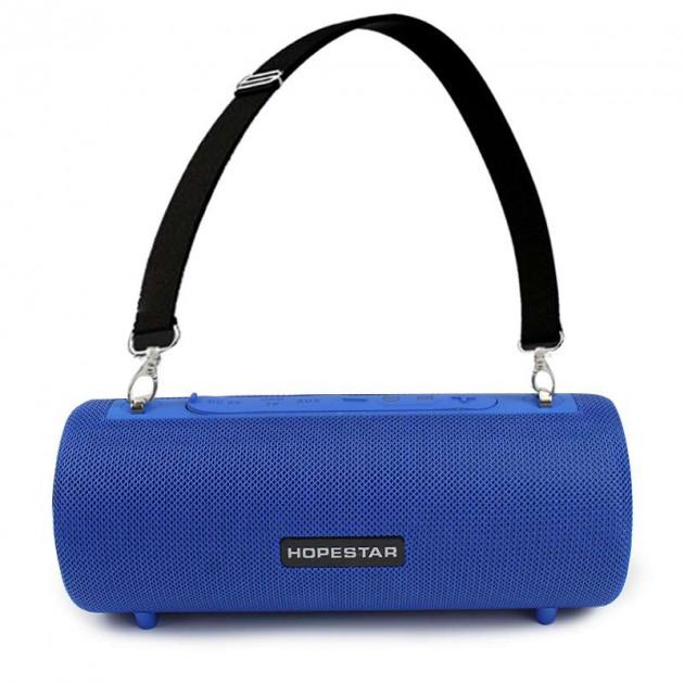 Колонка портативна стерео вологозахищена Bluetooth Hopestar H39 Blue - зображення 1