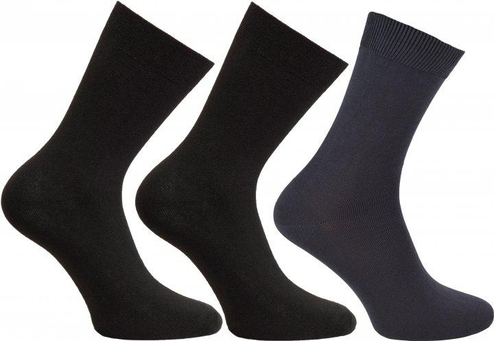 Набор носков Легка Хода 728 39-40 3 пары Черный/Темно-серый (ROZ6205085899) - изображение 1