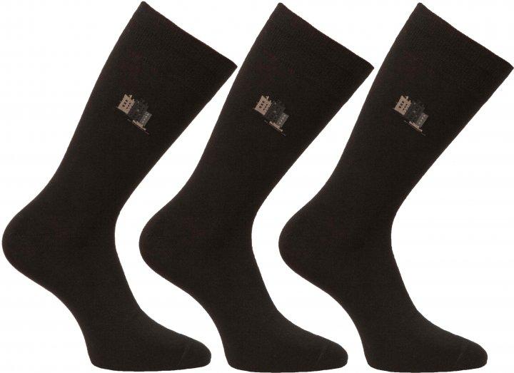 Набір шкарпеток Легка Хода 6012 45-46 3 пари Чорні (ROZ6205085874) - зображення 1