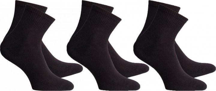 Набор носков Легка Хода 6331 41-42 3 пары Черные (ROZ6205085933) - изображение 1