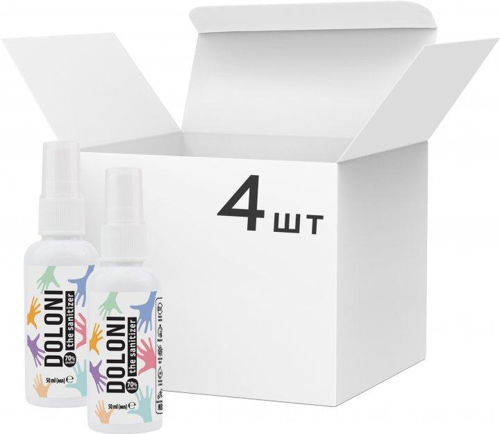Упаковка антисептика для рук Doloni 4 шт. х 50 мл (ROZ6400105334) - зображення 1