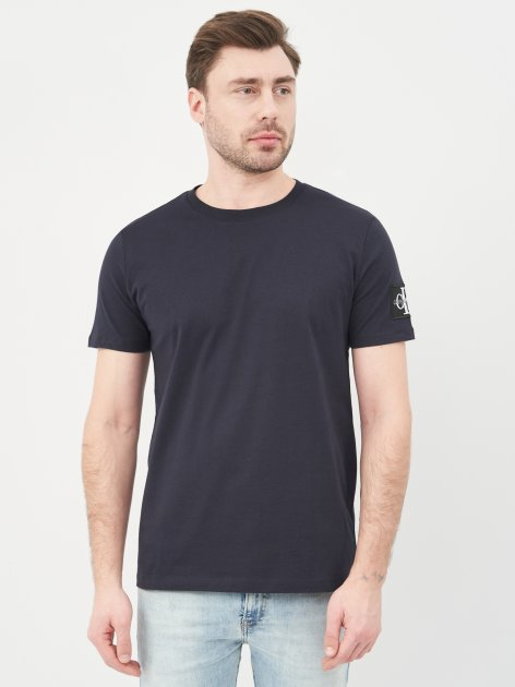 Футболка Calvin Klein Jeans 10492.4 S (44) Темно-синяя - изображение 1