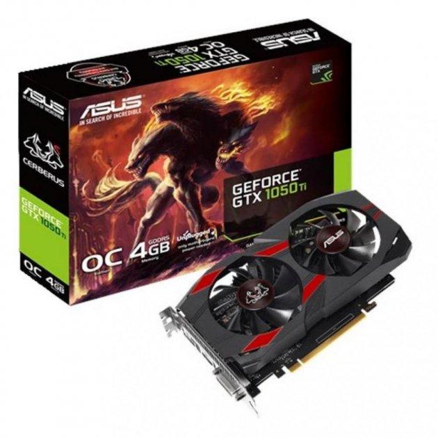 Відеокарта GeForce GTX1050Ti OC, Asus, CERBERUS, 4Gb DDR5, 128-bit, DVI/HDMI/DP, 1480/7008 MHz (CERBERUS-GTX1050TI-O4G) - зображення 1