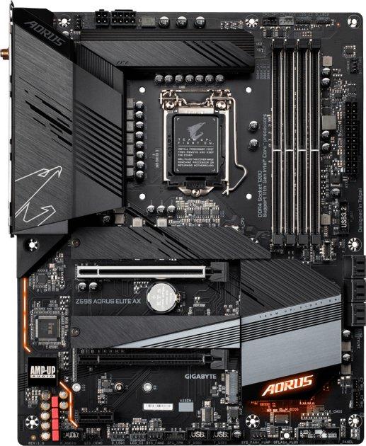 Материнська плата Gigabyte Z590 Aorus Elite AX (s1200, Intel Z590, PCI-Ex16) - зображення 1