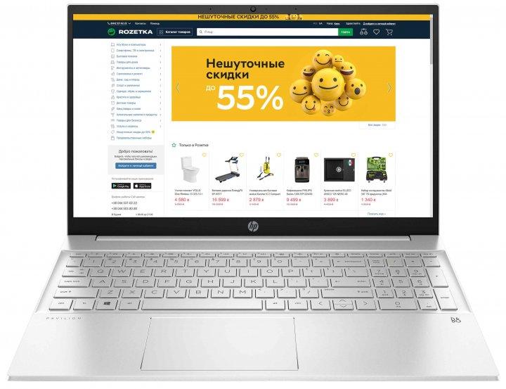 Ноутбук HP Pavilion Laptop 15-eh0051ur (34Q69EA) Silver - зображення 1