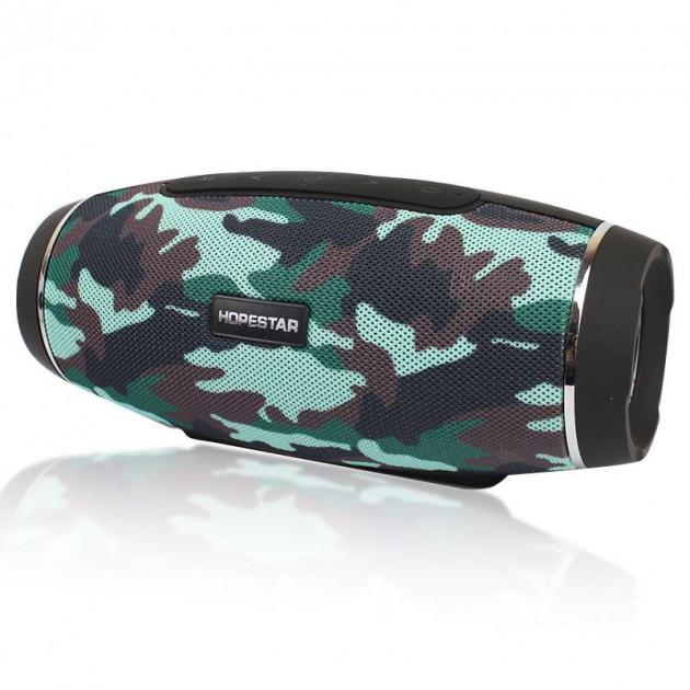 Колонка стерео портативная акустическая Bluetooth Hopestar H27 Militari - изображение 1