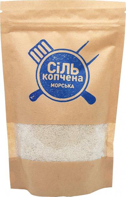Упаковка морской соли Український дим копченой 4 шт х 150 г (4820143390440) - изображение 1