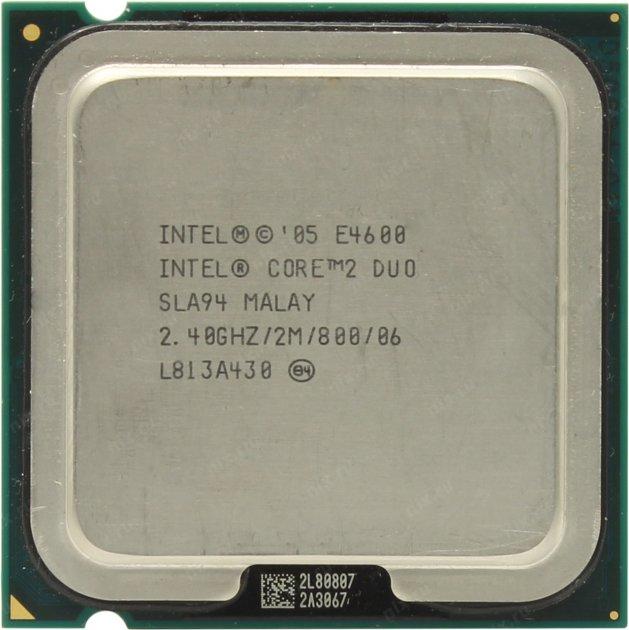 Процесор Intel Core 2 Duo E4600 2.40 GHz/2M/800 (SLA94) s775, tray - зображення 1