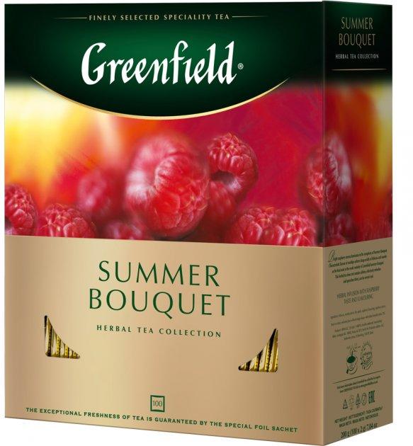 Чай пакетированный Greenfield Summer Bouquet 100 шт x 2 г (4823096806617) - изображение 1