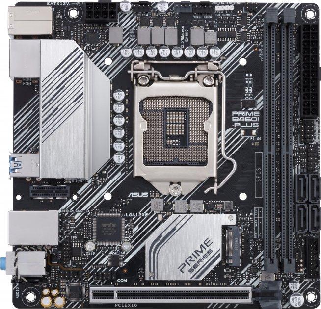 Материнская плата Asus Prime B460I-Plus (s1200, Intel B460, PCI-Ex16) - изображение 1