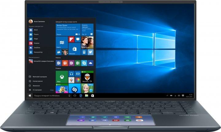 Ноутбук Asus ZenBook 14 UX435EG-A5009R (90NB0SI1-M03320) Pine Grey + фірмовий чохол - зображення 1