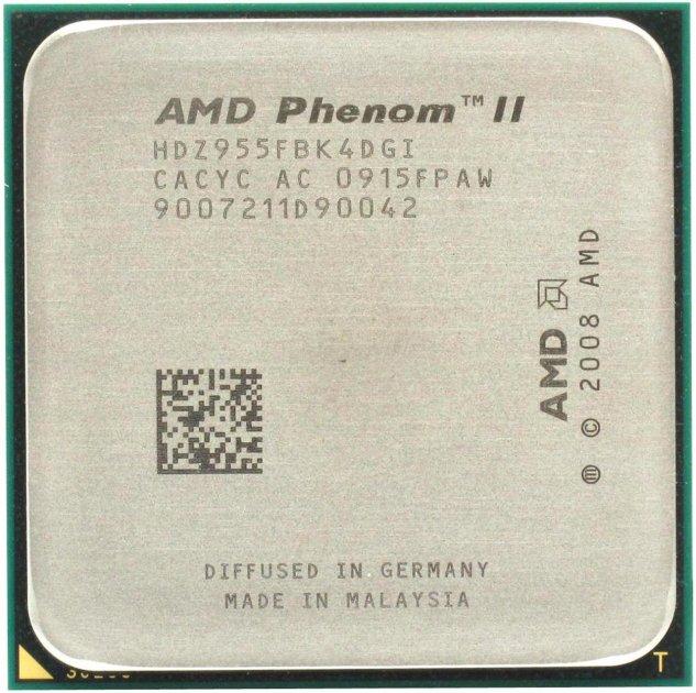 Процесор AMD Phenom II X4 955 Black Edition 3.2 GHz/6MB/2000MHz (HDZ955FBK4DGI) sAM3, tray - зображення 1