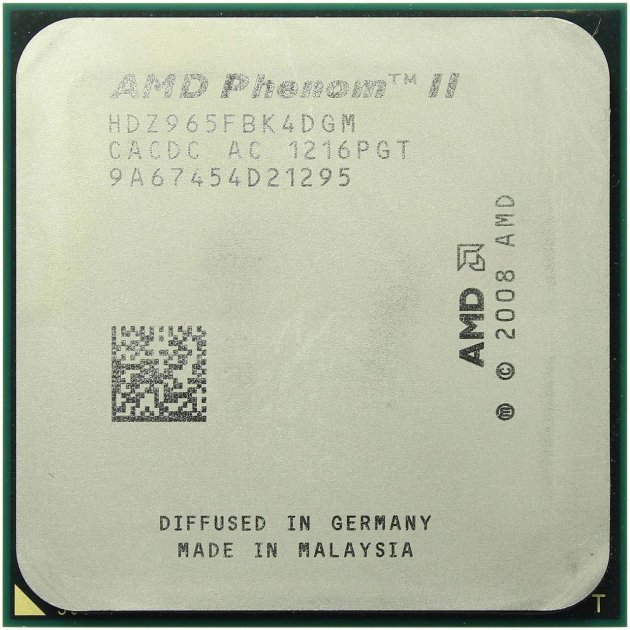 Процесор AMD Phenom II X4 965 Black Edition 3.4 GHz/8MB/HT 2000MHz (HDZ965FBK4DGM) sAM3, tray - зображення 1