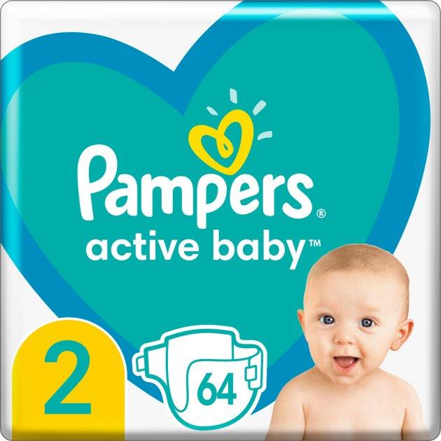 Подгузники Pampers Active Baby Размер 2 (4-8 кг) 64 шт (8006540045428)