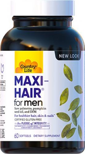 Витаминно-минеральный комплекс Country Life Maxi-Hair for Men 60 капсул (015794050476)