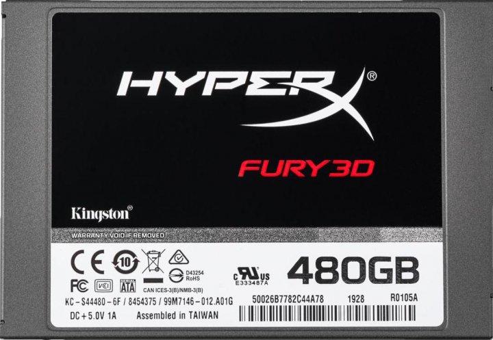 """Kingston SSD HyperX Fury 3D 480GB 2.5"""" SATAIII 3D NAND TLC (KC-S44480-6F) - зображення 1"""