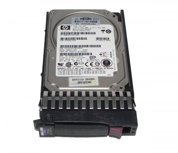 """Жорсткий диск для сервера 72Gb HP 460850-001, 10000rpm 32MB (DG072BABCE) 2.5"""" SAS - зображення 1"""