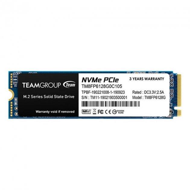SSD 128GB Team MP33 M. 2 2280 PCIe 3.0 x4 3D TLC (TM8FP6128G0C101) - зображення 1