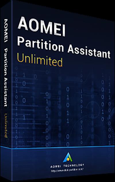 Системная утилита AOMEI Partition Assistant Unlimited (неограниченное кол-во ПК и серверов), пожизненные обновления (PAU-01) - изображение 1