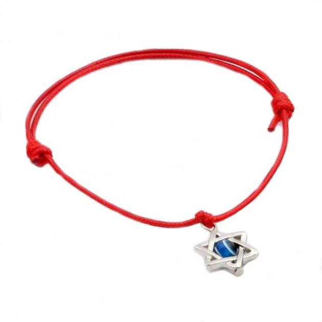 Красная нить Синий глаз DiaDemaGrand Красный с серебряным (041602-10-15) - изображение 1