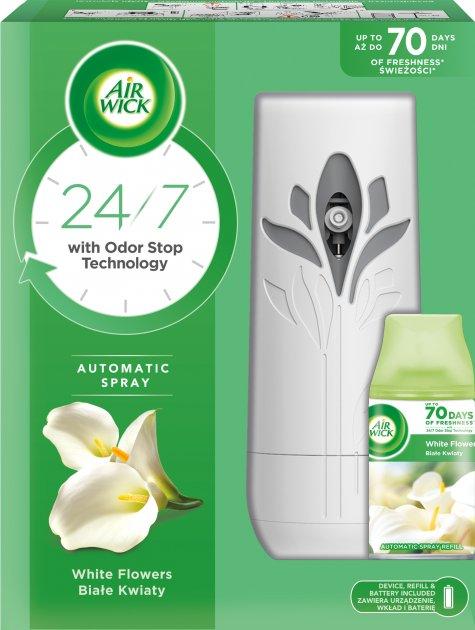 Автоматический аэрозольный освежитель воздуха Air Wick Freshmatic Райские цветы (5900627073133) - изображение 1