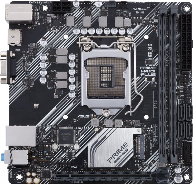 Материнская плата Asus Prime H410I-Plus (s1200, Intel H410, PCI-Ex16) - изображение 1