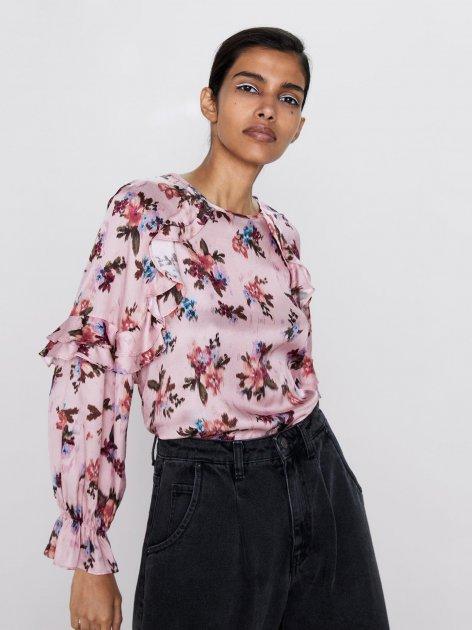 Блузка Zara 1932-224-330-AASC S Розовая (3000002728657) - изображение 1