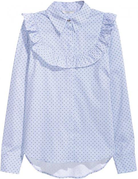 Блузка H&M 4380204-AANS 36 Синя (3000001103738) - зображення 1