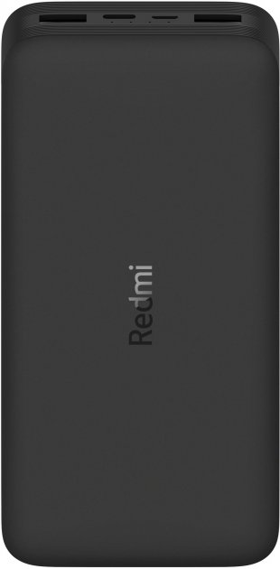 УМБ Xiaomi Redmi Power Bank 20000mAh 2xUSB QC3.0 18W PB200LZM Black (VXN4304GL) - изображение 1