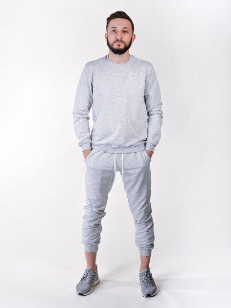Спортивний костюм (світшот та штани) сірий XL Vudvud - изображение 1