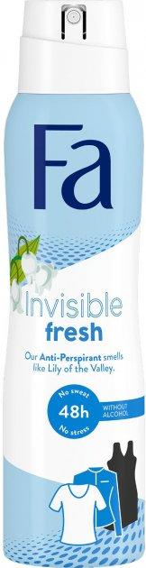 Антиперспирант-спрей Fa Invisible Fresh с ароматом ландыша 150 мл (9000101251340) - изображение 1