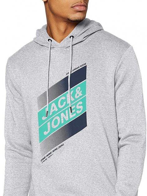 Худі Jack & Jones 12182463-54013 L Light Grey Melange (5714918570115) - зображення 1