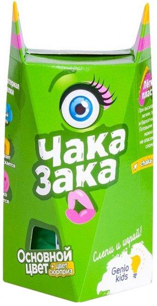 Легкий пластилин для детской лепки Genio Kids Чака-Зака Зеленый (TA1790-4) (4814723005978-4) - изображение 1