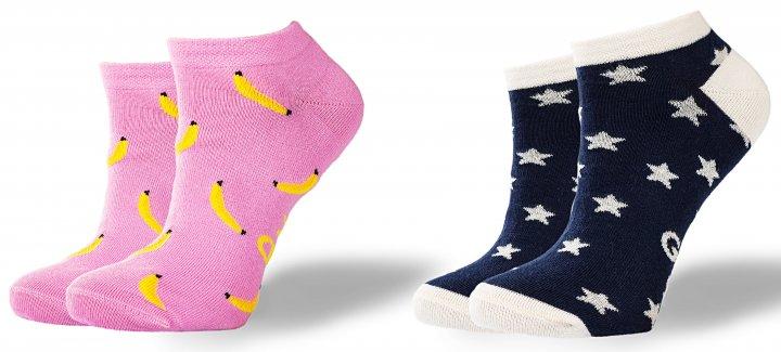 Носки GoodSox 321 Banana Joy + Falling star 35-40 р 2 шт Разноцветные (4820216200594) - изображение 1