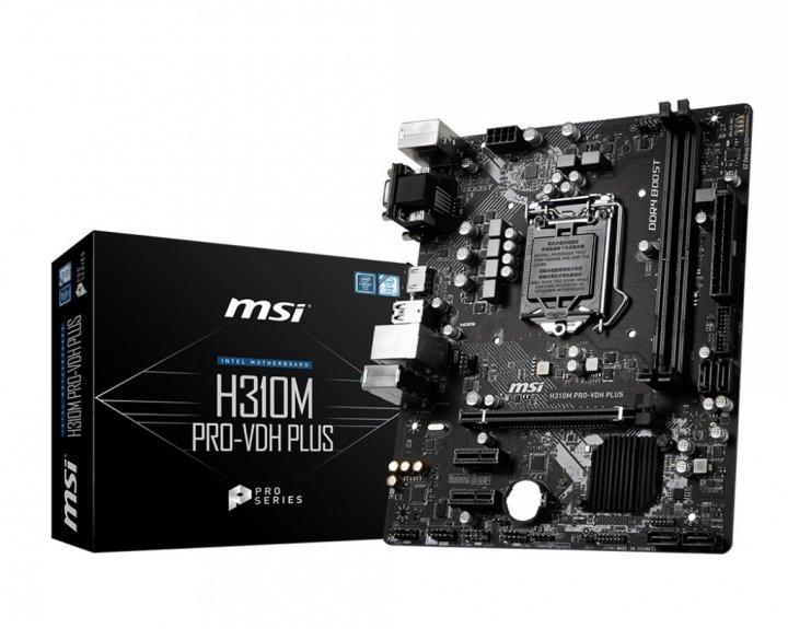 Материнская плата MSI H310M PRO-VDH Plus Socket 1151 - изображение 1