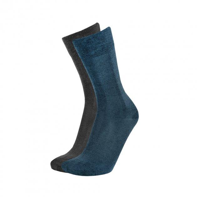 Набір шкарпеток ACCENT 0080 чоловічих демісезонних з 2-х пар, із бавовни 31-33 Темно-синій (0 0080 387 3133) - изображение 1