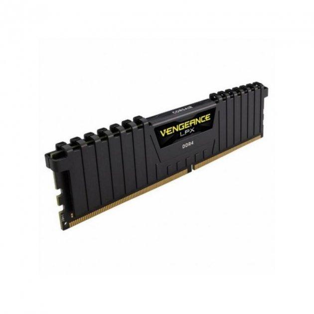 Оперативна пам'ять Corsair DDR4 4GB 2400Mhz Vengeance LPX Black (CMK4GX4M1A2400C16) - изображение 1