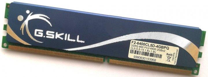 Ігрова оперативна пам'ять G. Skill DDR2 2Gb 800MHz PC2 6400U CL5 (F2-6400CL5D-4GBPQ) Б/У - зображення 1