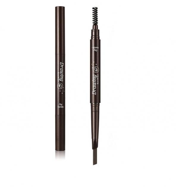 Олівець для брів плоский зі щіточкою № 01 - зображення 1