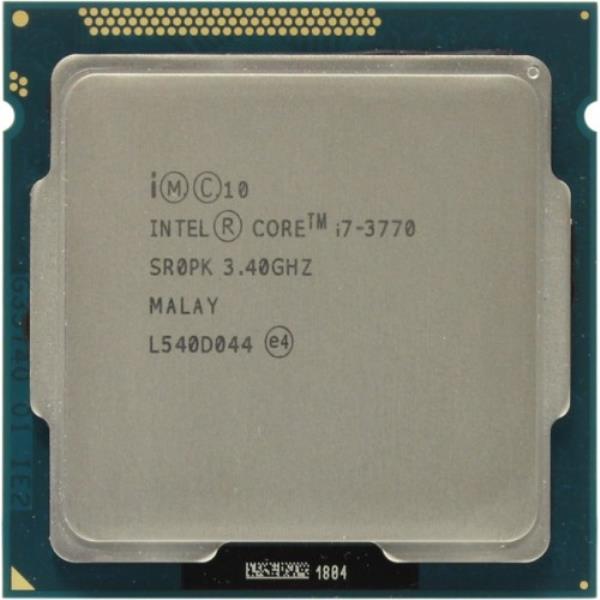 Процессор Intel Core i7-3770 (S1155/4x3.1GHz/5GT/s/8MB/77Вт/BX80637I73770) Б/У - изображение 1