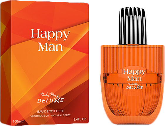Туалетная вода для мужчин Shirley May Deluxe Happy Man 100 мл (MM39113) (6295124029226) - изображение 1