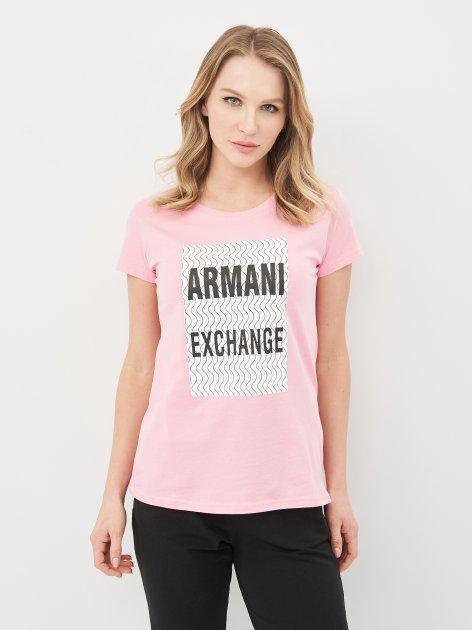 Футболка Armani Exchange 10519.4 XS (40) Рожева - зображення 1