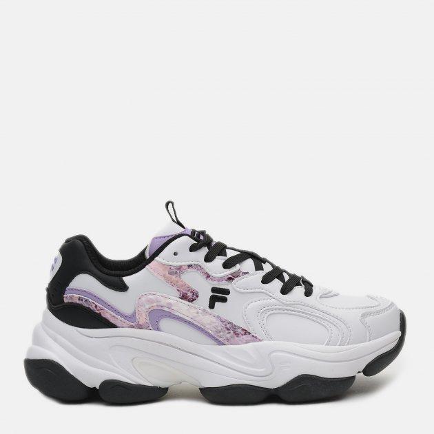 Кроссовки Fila Volt W Low 112263-WL 37 23.5 см Белые с фиолетовым (4670036661986) - изображение 1