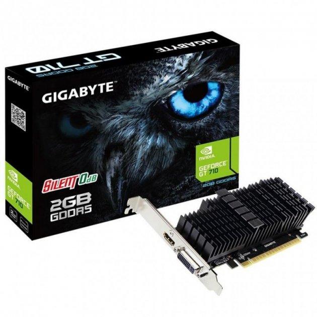Відеокарта GIGABYTE GeForce GT710 2048Mb SILENT (GV-N710D5SL-2GL) - зображення 1