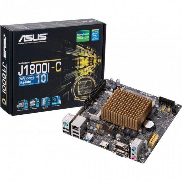 Материнська плата ASUS J1800I-C (FCBGA1170, Intel Celeron J1800 2х2.41 ГГц, 2xDDR3L-1333 МГц, аудіо 7.1, Mini-ITX) - зображення 1